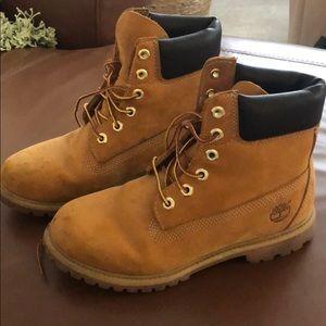 Slightly worn Timberland classic boots